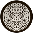 rug #1285963 | round brown damask rug