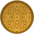rug #1285991 | round light-orange traditional rug