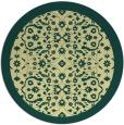 rug #1285995 | round yellow borders rug