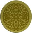 rug #1285999 | round light-green damask rug