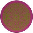 rug #1286007 | round light-green damask rug