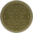 rug #1286011 | round light-green damask rug