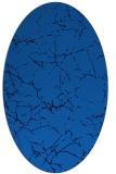 rug #1286795 | oval blue abstract rug
