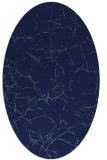rug #1286803 | oval blue abstract rug