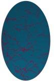 rug #1286883 | oval blue-green natural rug