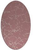rug #1286887 | oval pink natural rug