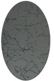 rug #1286895 | oval blue-green abstract rug