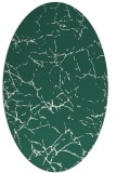rug #1286899 | oval blue-green abstract rug