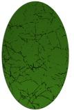 rug #1286907 | oval green abstract rug