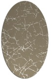 rug #1286927 | oval white abstract rug