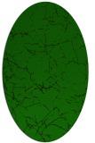 rug #1286971   oval green abstract rug