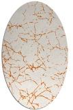 rug #1287051 | oval red-orange natural rug