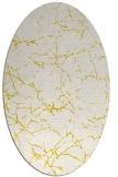 rug #1287059 | oval white abstract rug