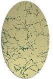rug #1287099 | oval yellow natural rug