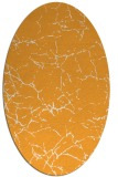rug #1287127 | oval light-orange abstract rug