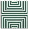 rug #1288371 | square blue-green stripes rug