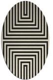 rug #1288627   oval black rug