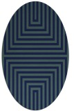 rug #1288643 | oval blue retro rug