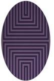 rug #1288699   oval purple retro rug