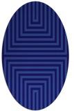 rug #1288703   oval blue-violet retro rug