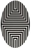 rug #1288751 | oval black retro rug