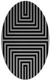 rug #1288754   oval stripes rug