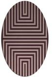 rug #1288771   oval pink retro rug