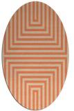 rug #1288823 | oval orange retro rug