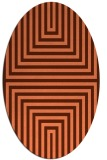 rug #1288827 | oval red-orange stripes rug