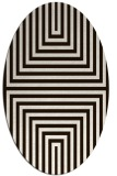 rug #1288907 | oval brown retro rug