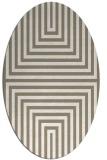 rug #1288919   oval beige retro rug