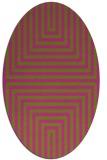 rug #1288951   oval pink retro rug
