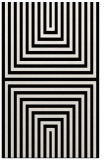 rug #1289119 |  black stripes rug