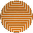rug #1289339 | round orange retro rug