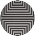 rug #1289563 | round red-orange stripes rug