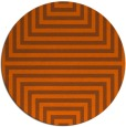 rug #1289623 | round red-orange retro rug