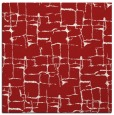 rug #1290343 | square red graphic rug