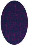 rug #1290479 | oval pink graphic rug