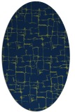 rug #1290487 | oval blue graphic rug