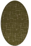 rug #1290555 | oval brown graphic rug