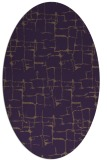 rug #1290695 | oval purple rug