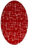 rug #1290703 | oval red rug
