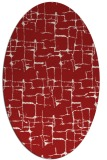 rug #1290711 | oval red graphic rug