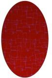 rug #1290715 | oval pink popular rug