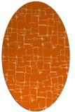 rug #1290723 | oval red-orange graphic rug