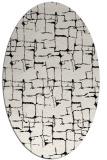 rug #1290735 | oval black graphic rug