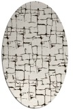 rug #1290747 | oval brown graphic rug