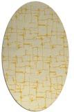 rug #1290763   oval yellow graphic rug