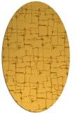 rug #1290775   oval yellow graphic rug