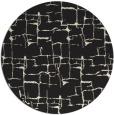 rug #1291203 | round black graphic rug